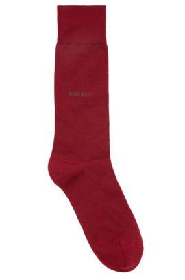 Lichte sokken van een wolmix met stretch, Donkerrood