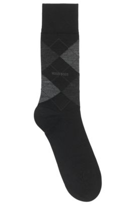 Regular-length socks in climate-regulating fabric, Black