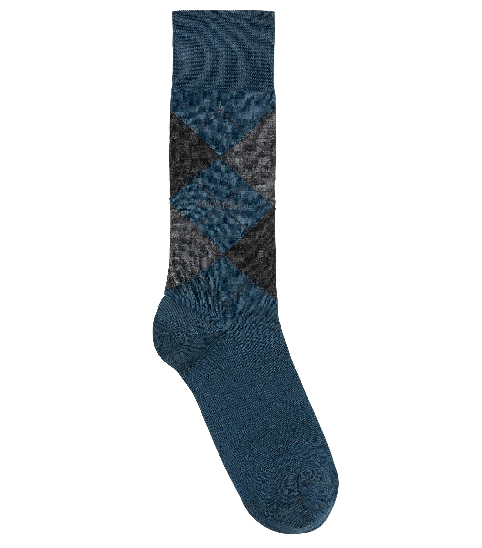 Mittelhohe Socken aus Temperatur regulierendem Woll-Mix mit Baumwolle, Hellgrün