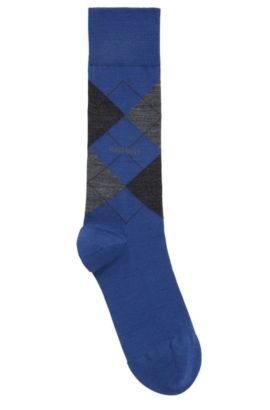 Sokken van temperatuurregulerend materiaal in een normale lengte, Blauw