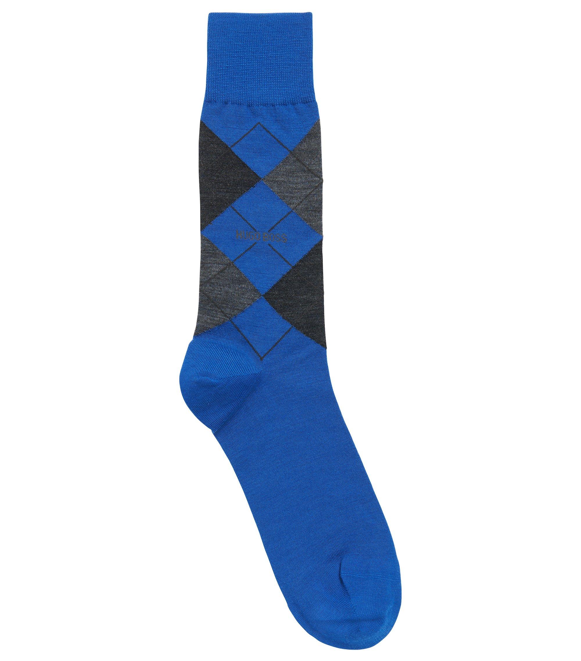 Mittelhohe Socken aus Temperatur regulierendem Woll-Mix mit Baumwolle, Blau