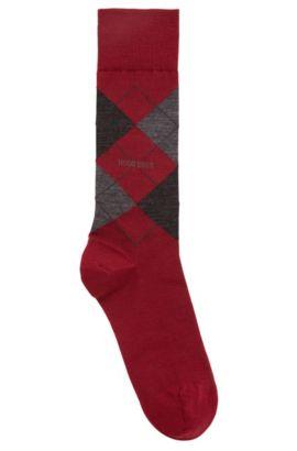 Mittelhohe Socken aus Temperatur regulierendem Woll-Mix mit Baumwolle, Dunkelrot
