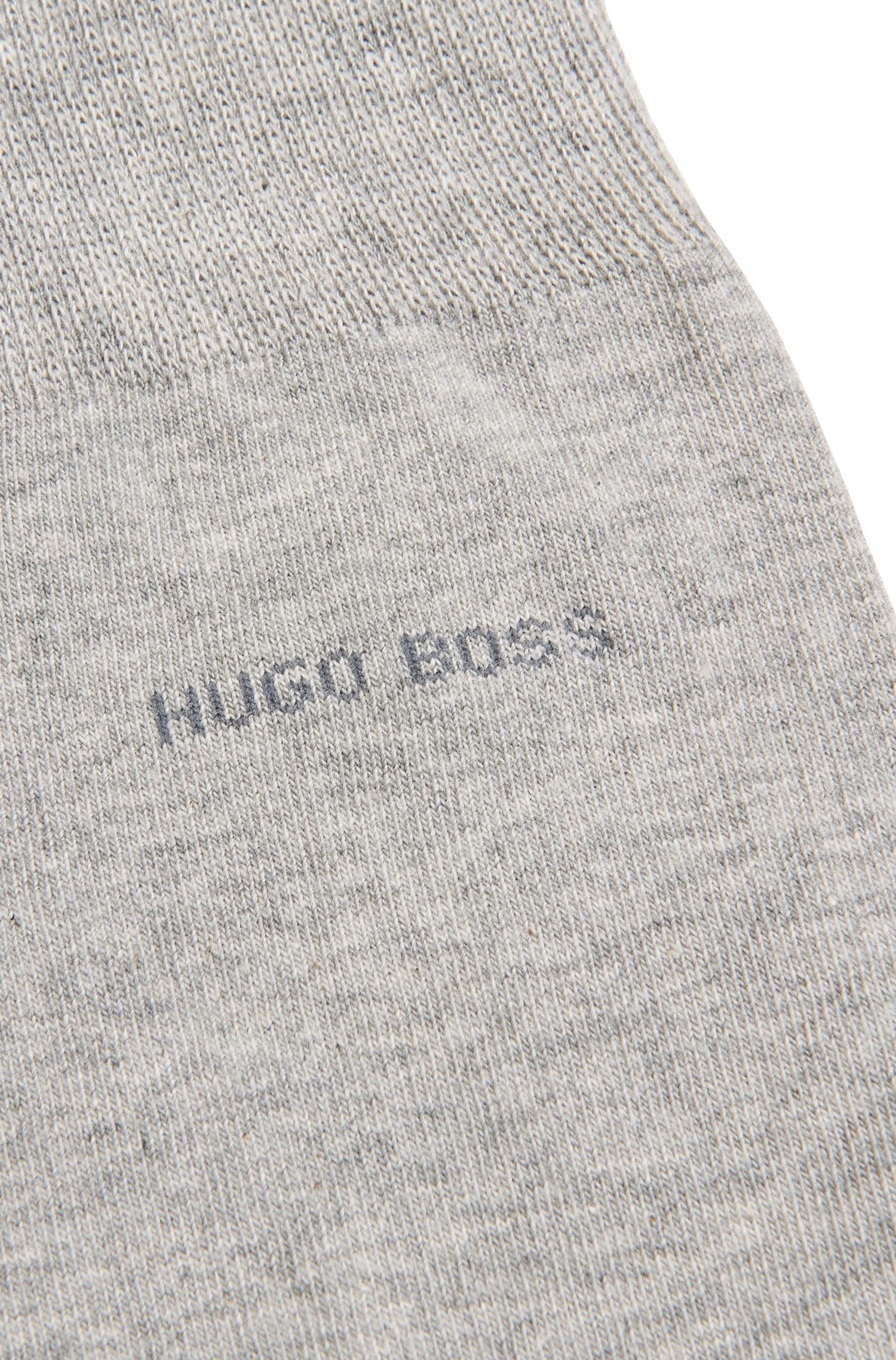 Regular-length socks in combed stretch cotton, Silver