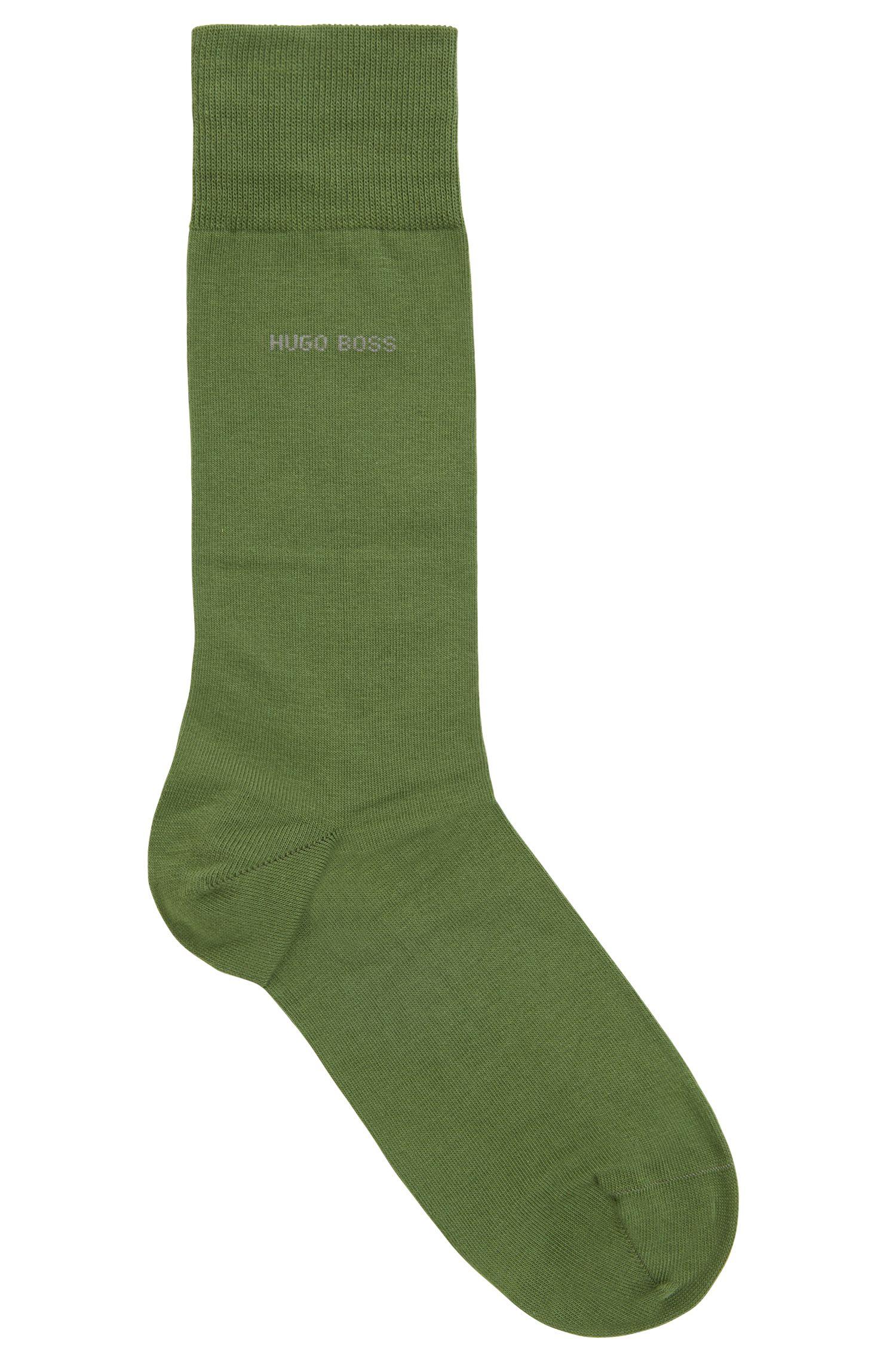 Chaussettes mi-mollet en coton peigné stretch