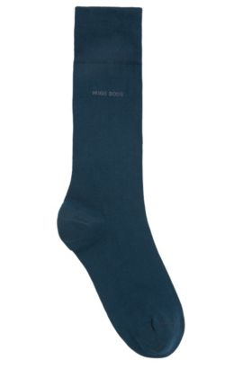 Sokken van gekamd stretchkatoen met normale lengte, Kalk