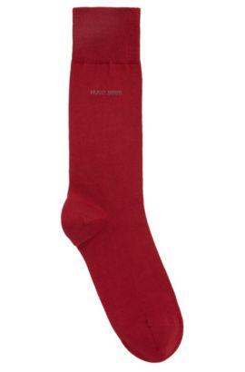 Mittelhohe Socken aus gekämmter Stretch-Baumwolle, Dunkelrot