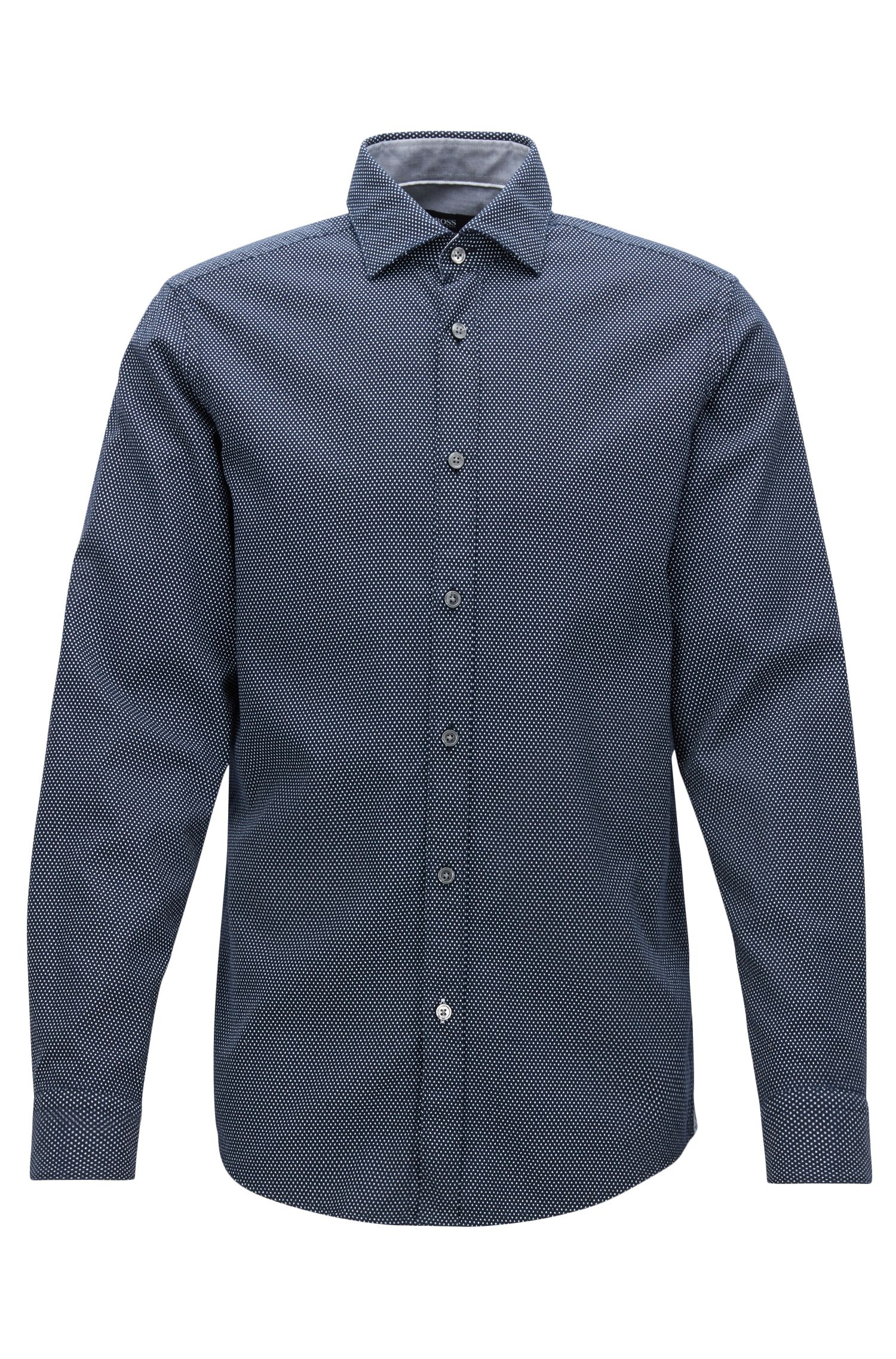 Camisa regular fit de algodón estampado