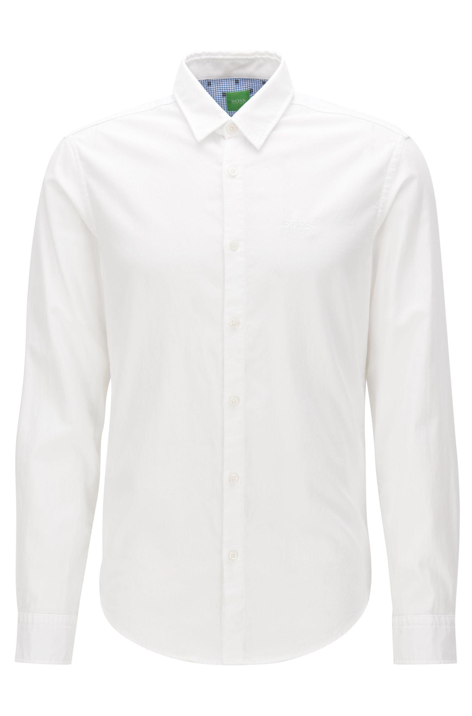 Chemise Oxford Regular Fit en coton à détails sportifs