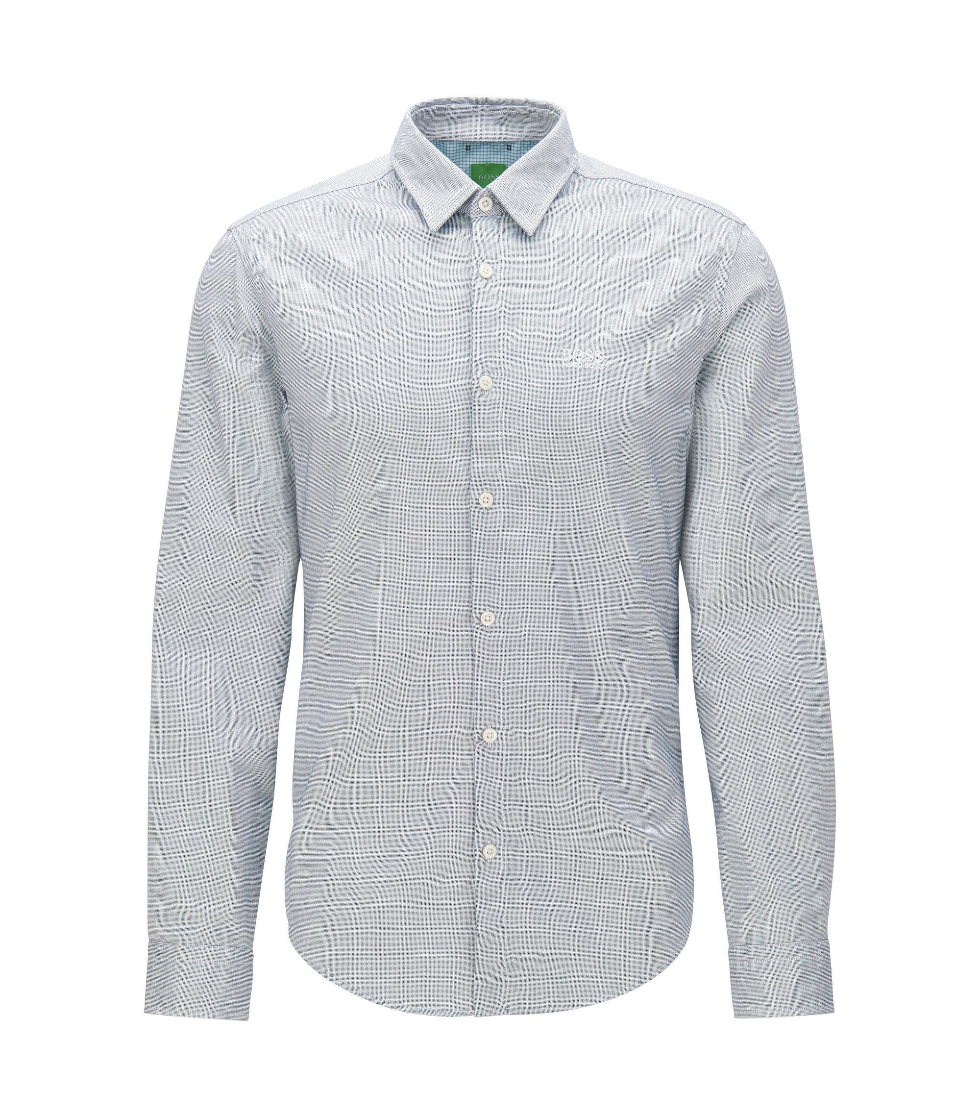 Regular-fit overhemd van oxfordkatoen met sportieve details, Lichtblauw