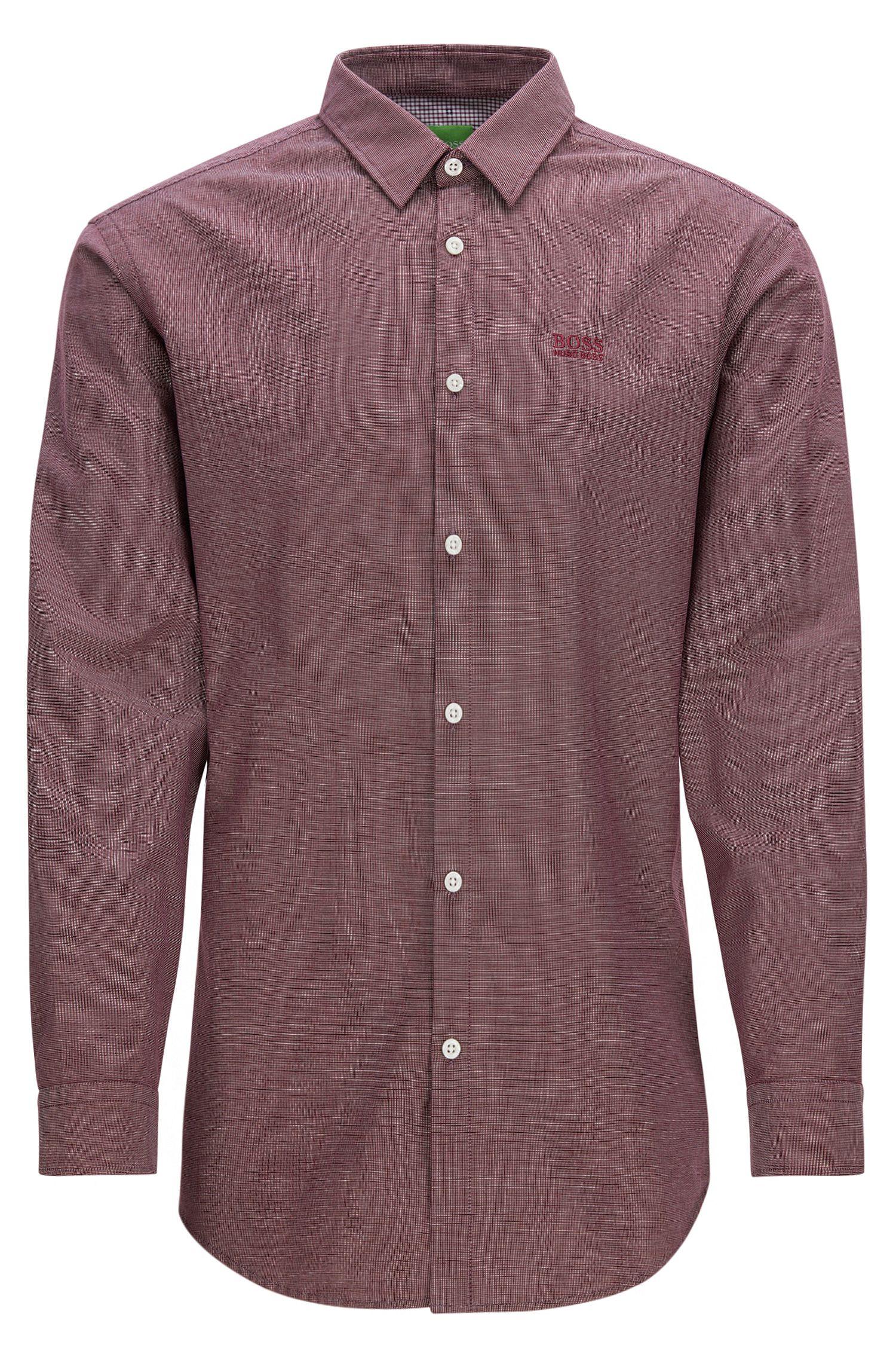 Regular-Fit Hemd aus Oxford-Baumwolle mit sportiven Details