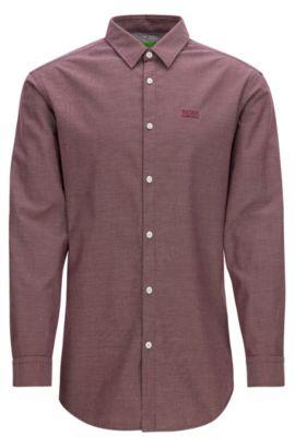 Chemise Oxford Regular Fit en coton à détails sportifs, Rouge