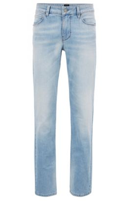 Slim-fit jeans in super-stretch denim, Light Blue