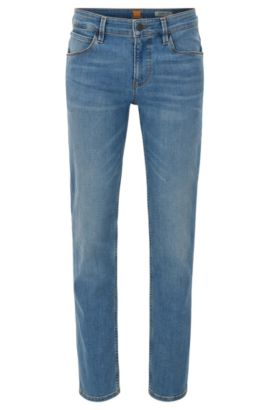 Slim-fit jeans van 3x1 denim twill, Blauw