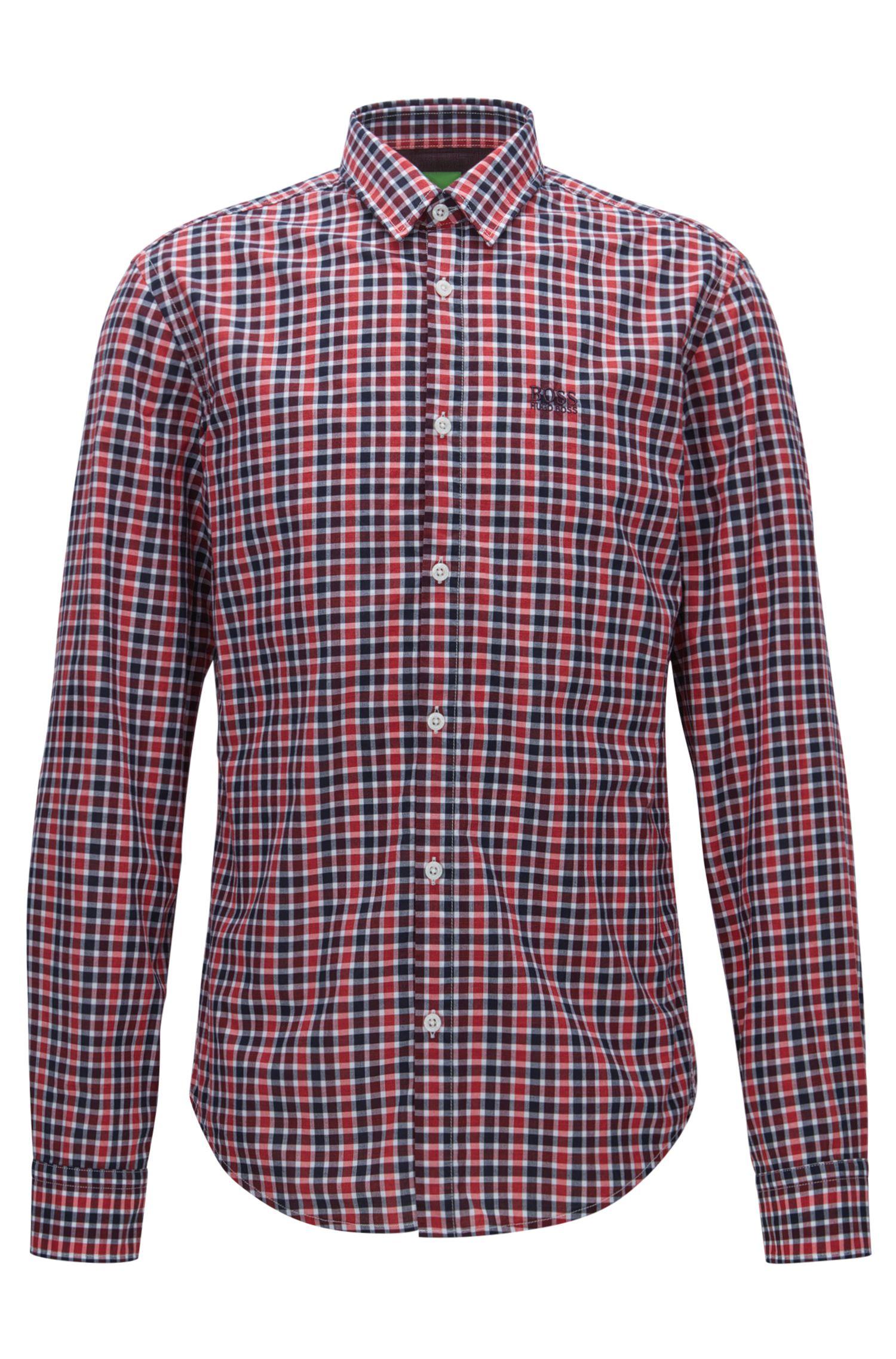 Regular-fit geruit overhemd van zachte katoen
