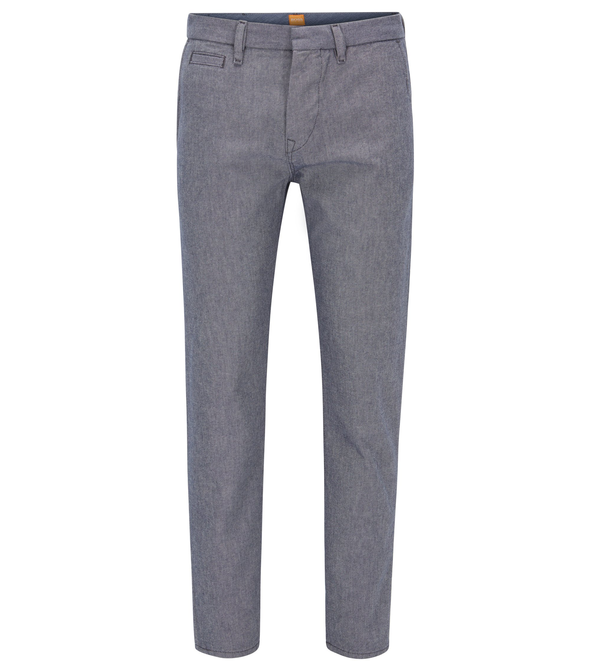 Tapered-fit jeans in eco-washed denim, Blue
