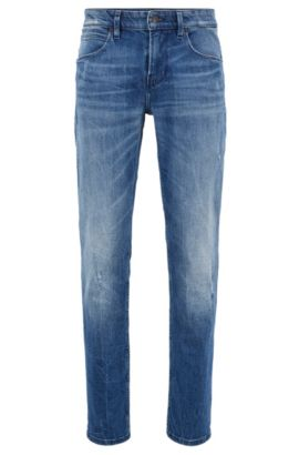 Slim-fit jeans van comfortabel stretchdenim, Blauw