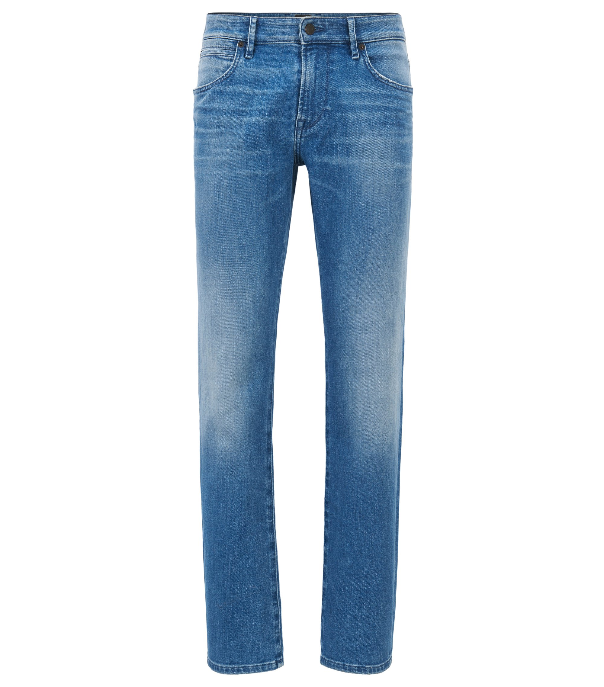 Jeans Regular Fit en denim stretch , Bleu