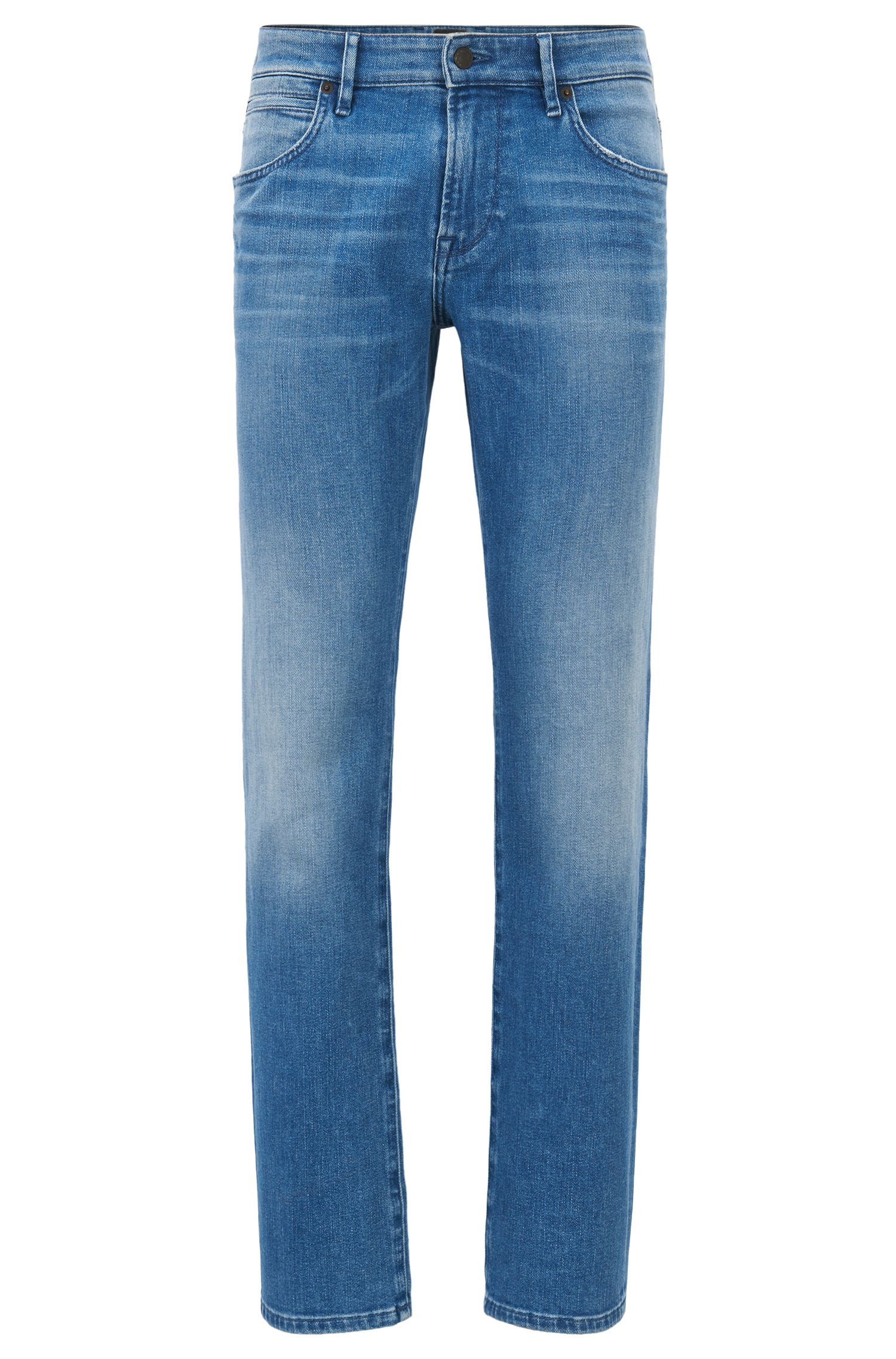 Regular-fit stretch-denim jeans