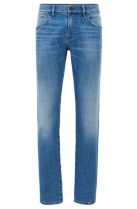 Regular-Fit Jeans aus elastischem Denim , Blau