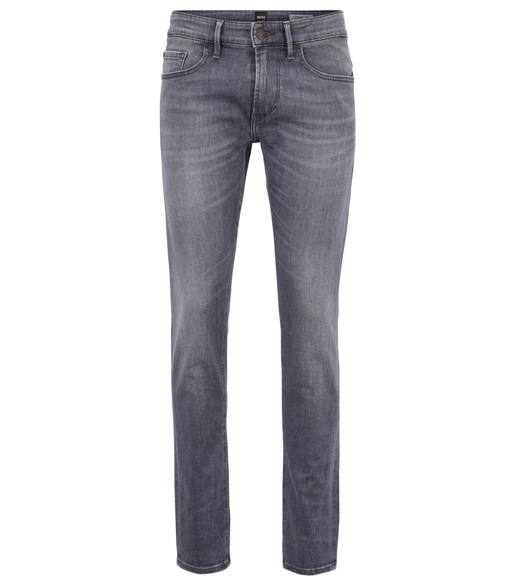 Grijze skinny-fit jeans van stretchdenim, Antraciet
