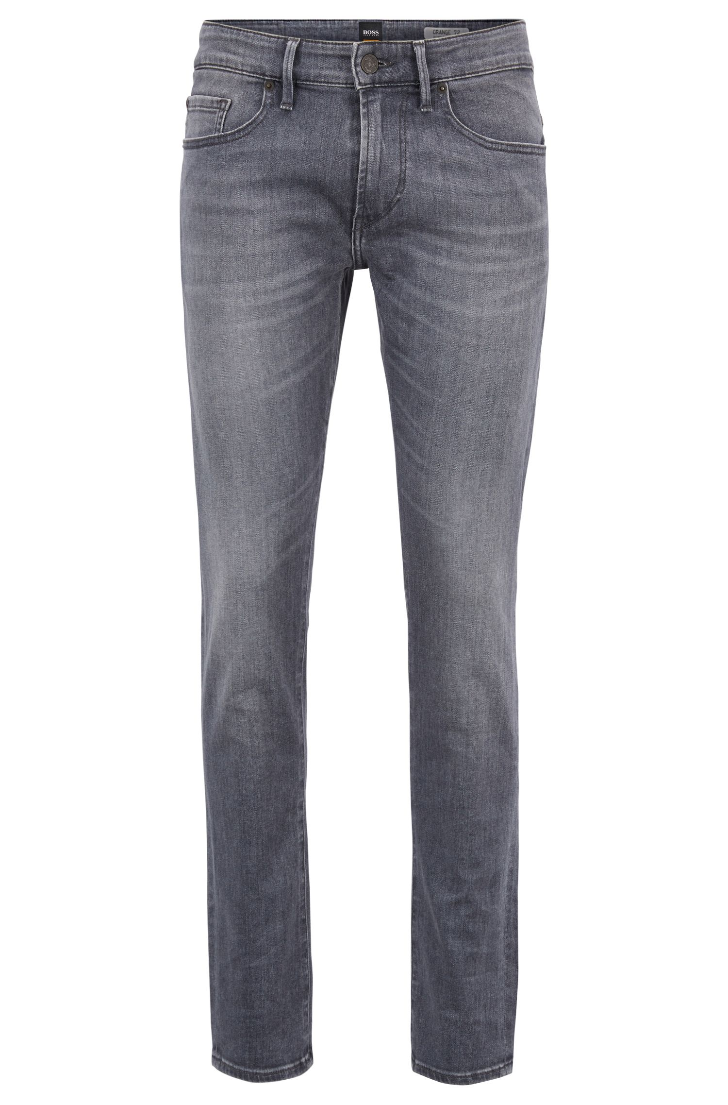 Skinny-fit grey jeans in stretch denim