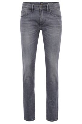Skinny-fit grey jeans in stretch denim, Anthracite