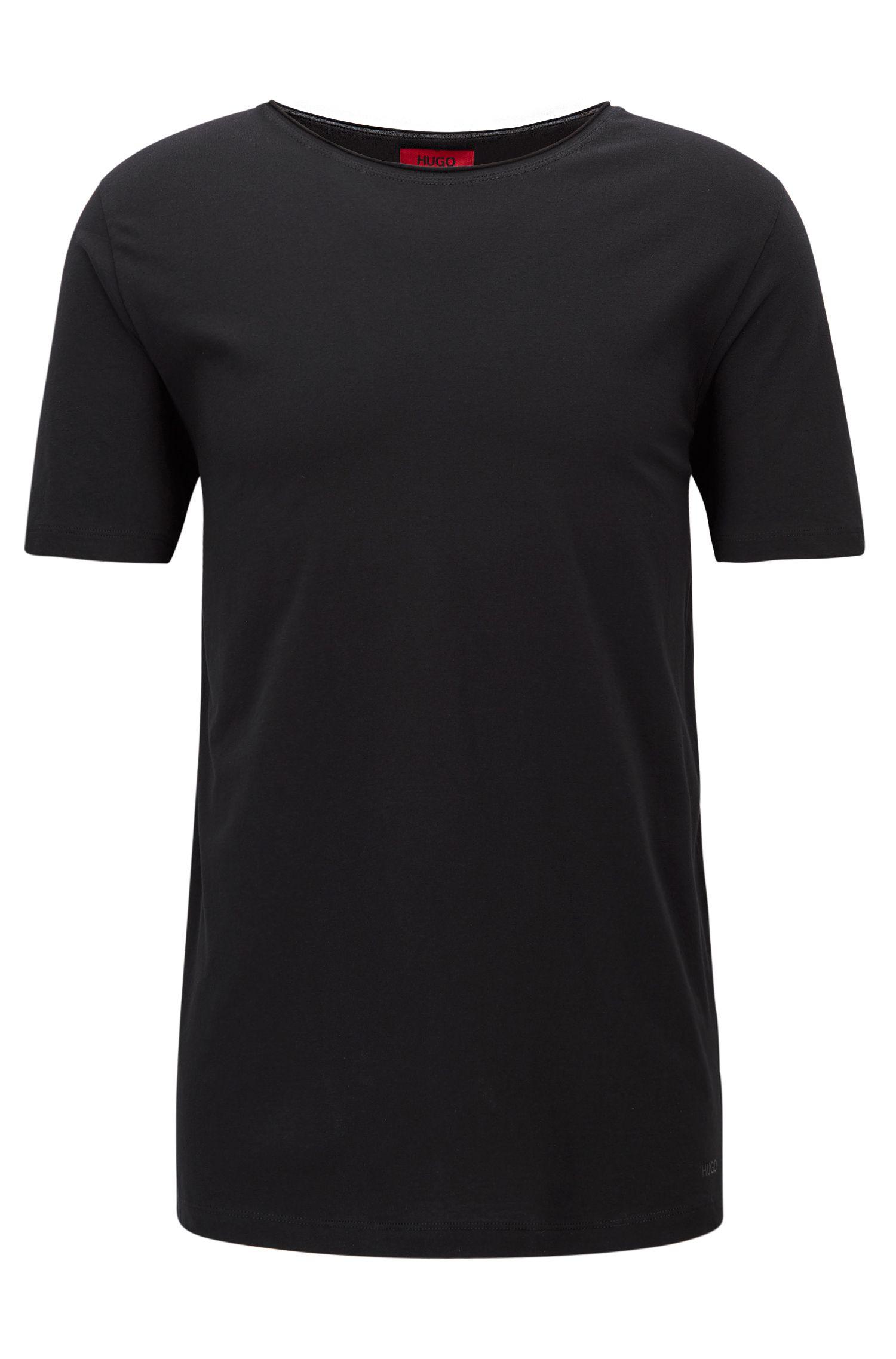 Camiseta relaxed fit con cuello redondo en algodón supima