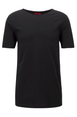 T-shirt a girocollo relaxed fit in cotone Supima, Nero