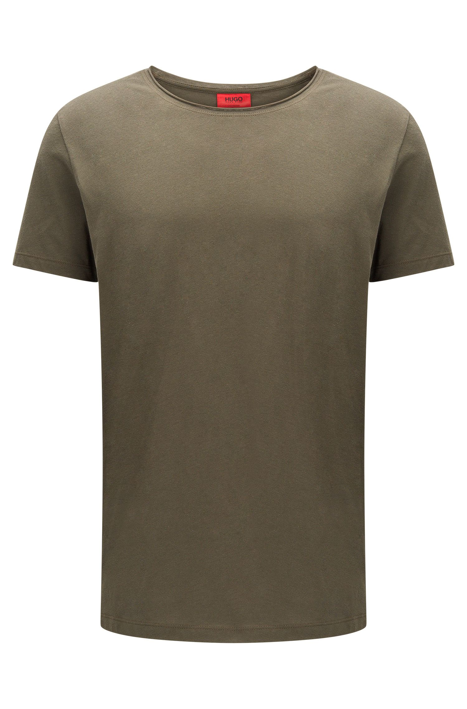 Relaxed-fit crew-neck T-shirt in supima cotton