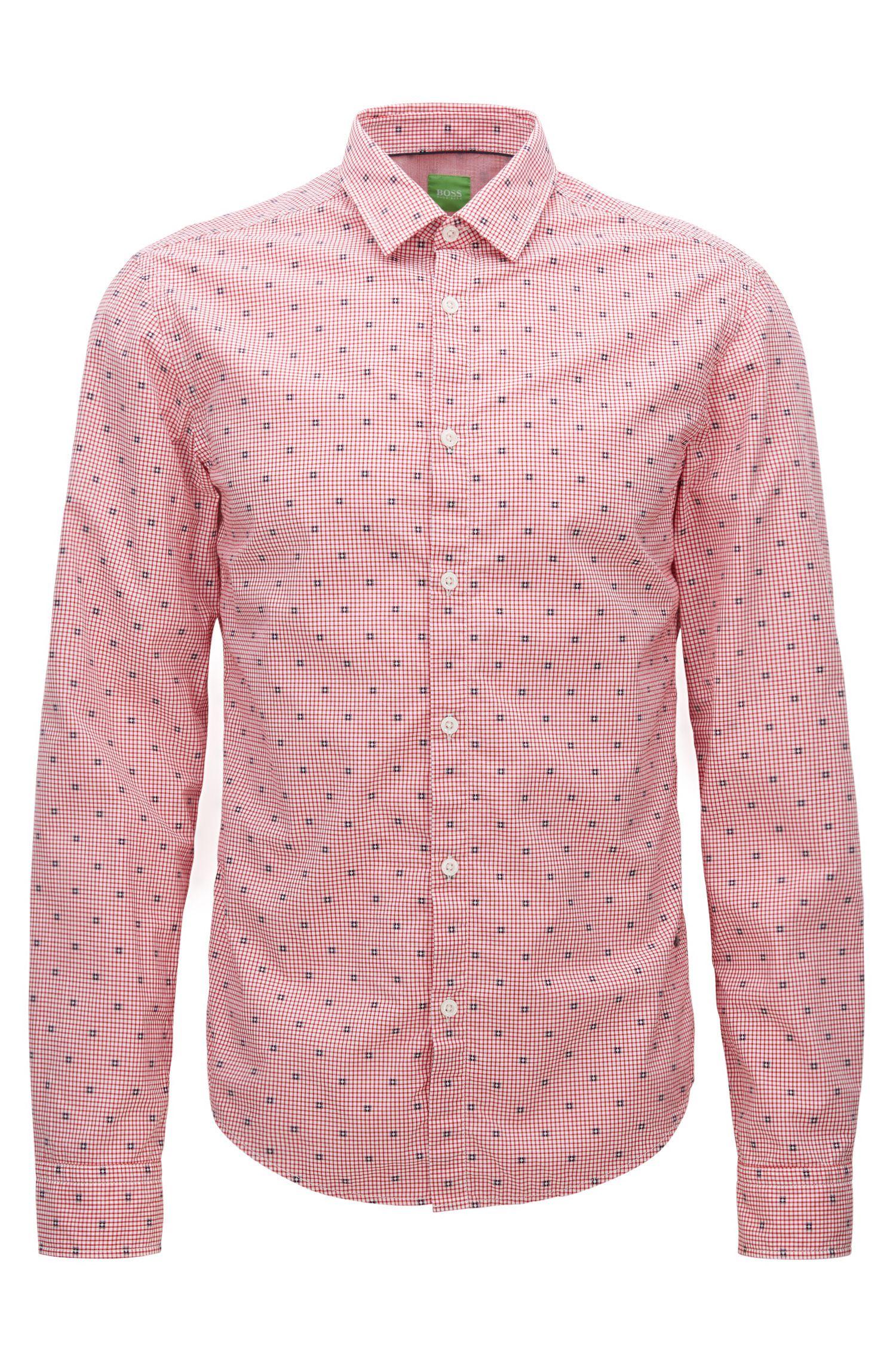 Slim-fit overhemd van geruite katoen