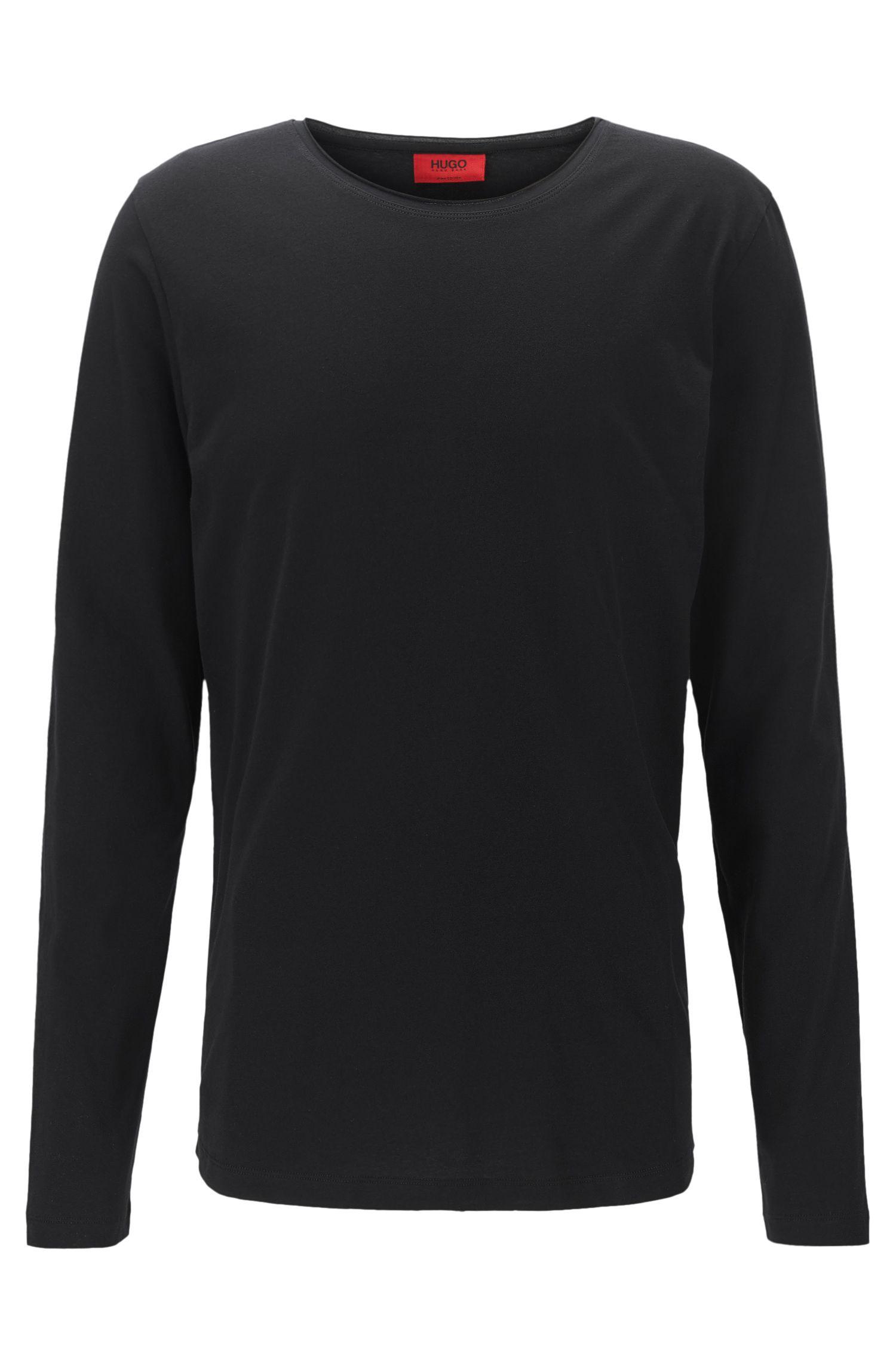 T-shirt Relaxed Fit à manches longues en coton Supima