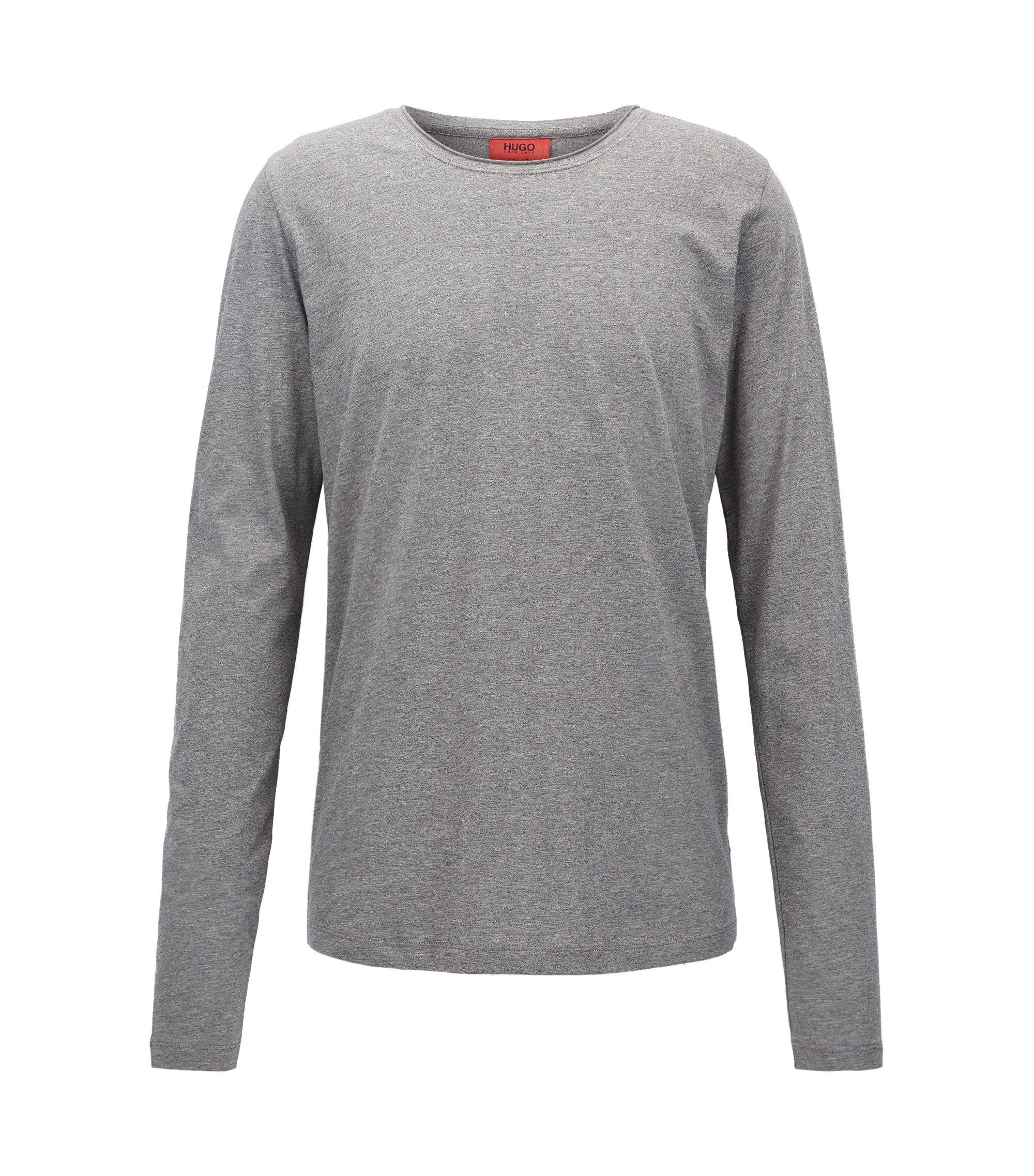 T-shirt Relaxed Fit à manches longues en coton Supima, Gris