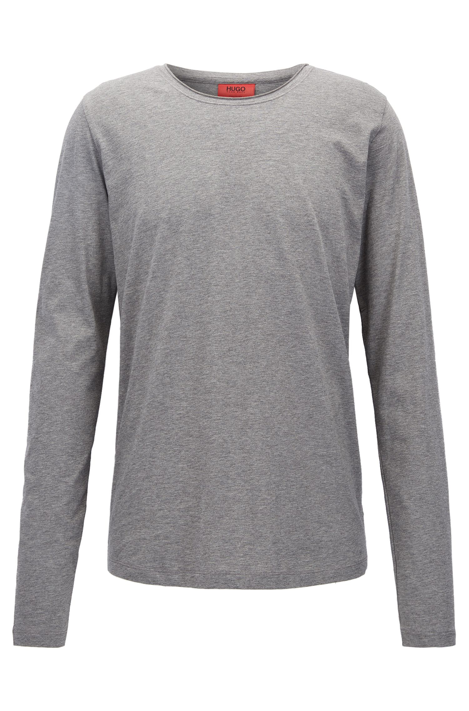 T-shirt relaxed fit a maniche lunghe in cotone Supima