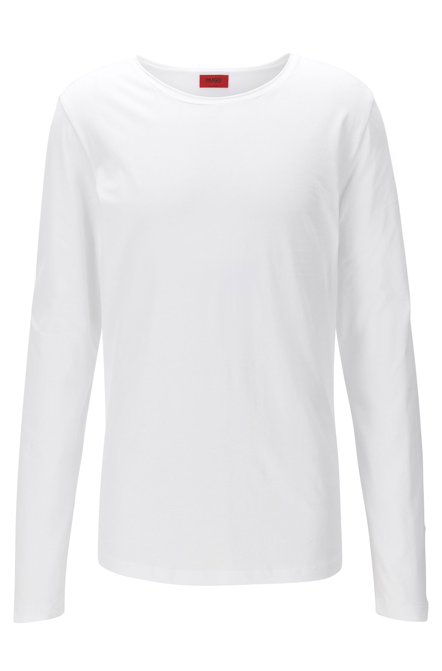 T-shirt Relaxed Fit à manches longues en coton Supima