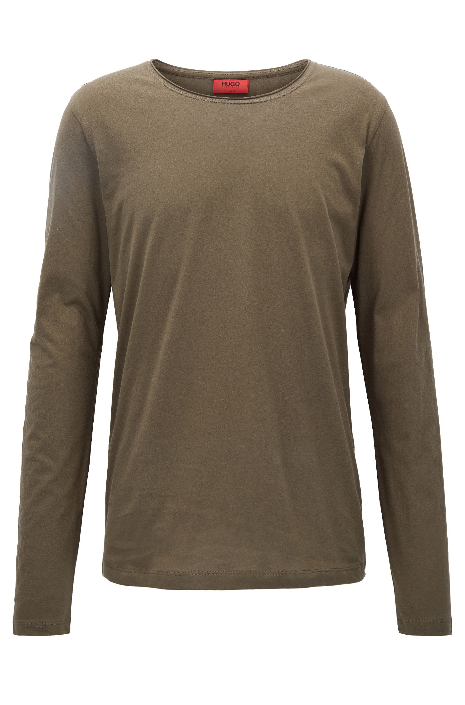 Relaxed-fit long-sleeved T-shirt in supima cotton
