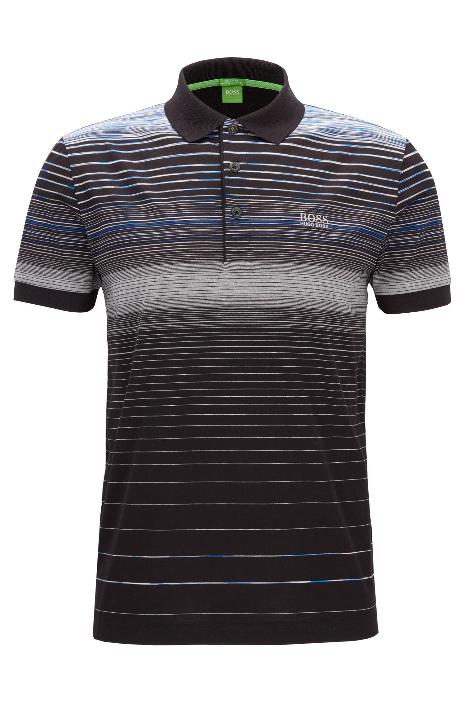 Regular-fit polo shirt in mercerised cotton
