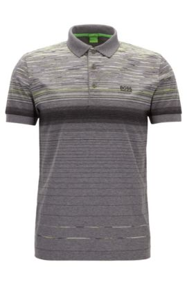 Regular-fit polo shirt in mercerised cotton, Grigio