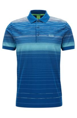 Polo regular fit en algodón mercerizado, Azul