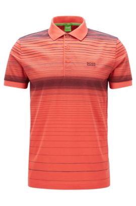 Polo Regular Fit en coton mercerisé, Rouge clair