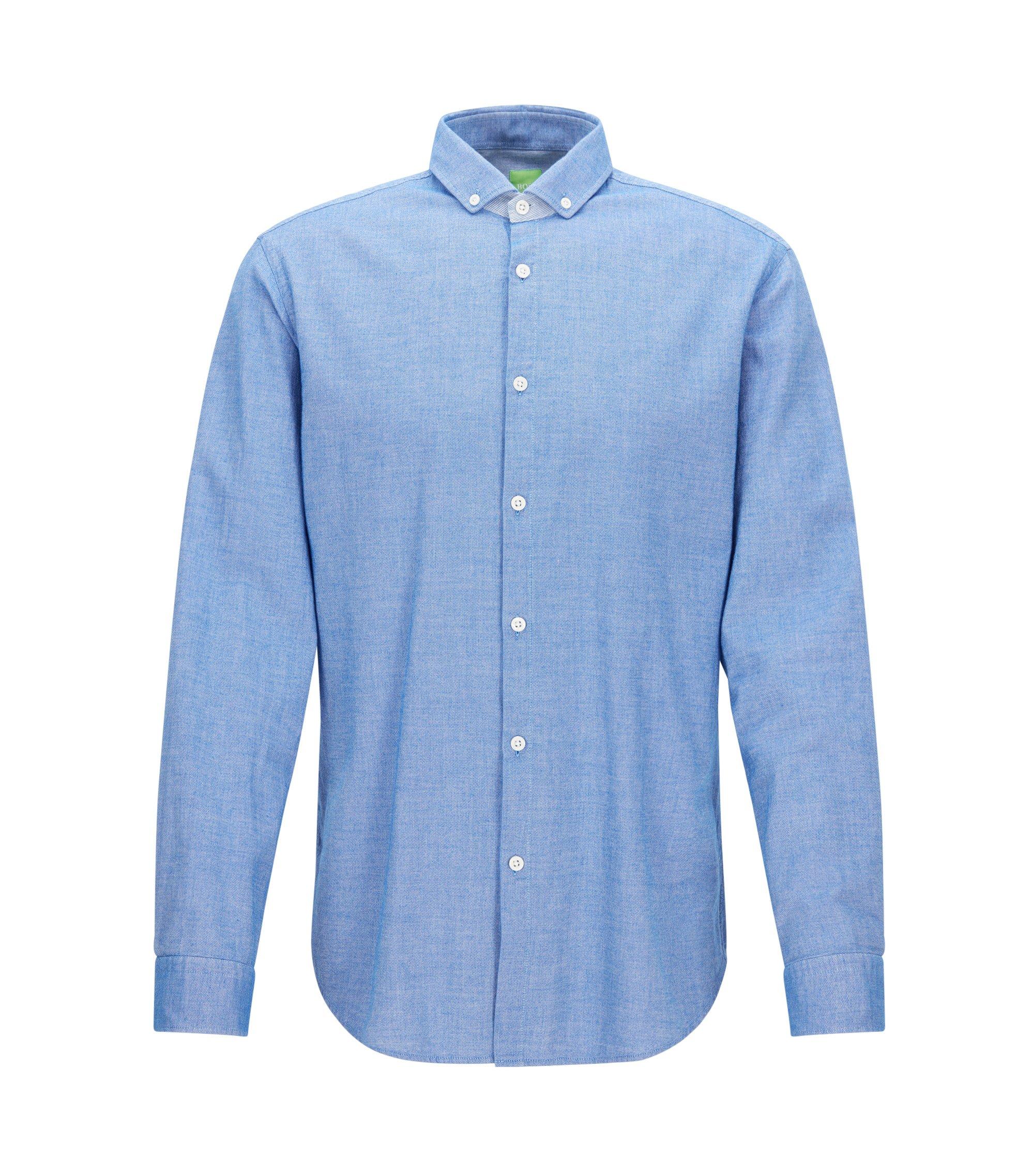 Camicia regular fit effetto denim, Blu