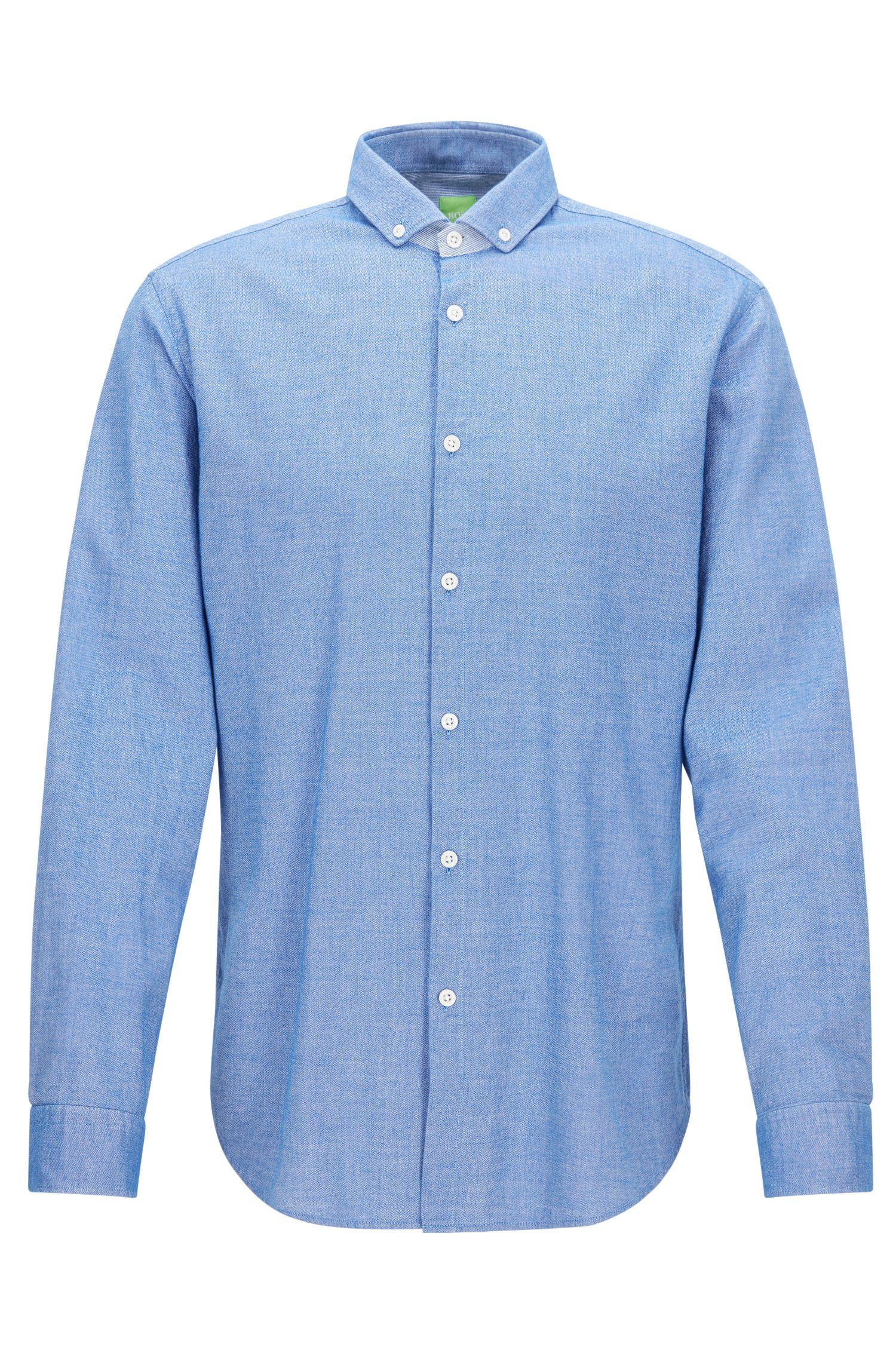 Camisa regular fit con efecto vaquero
