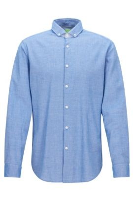 Regular-fit overhemd met denim effect, Blauw