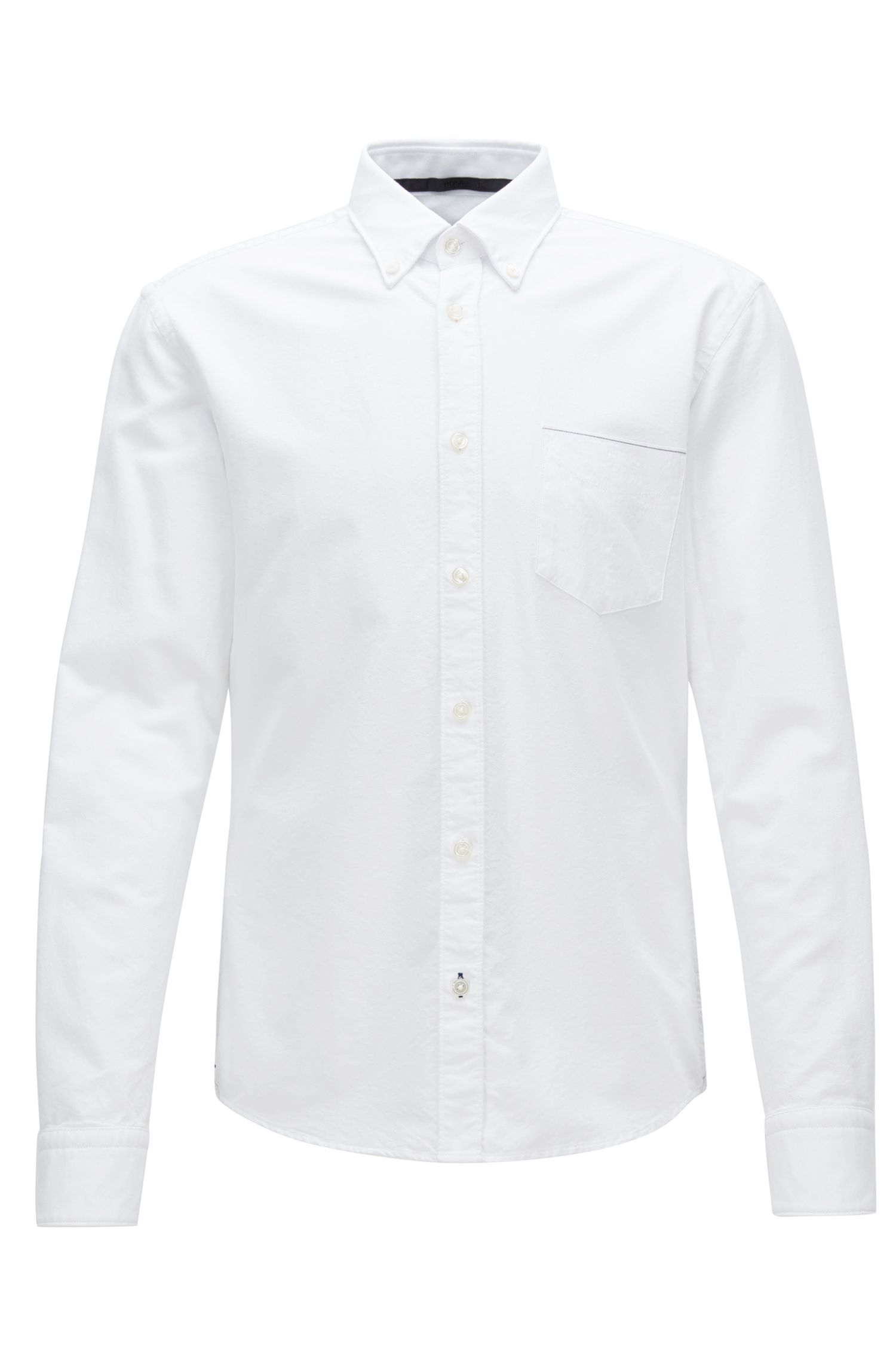 Camicia stile oxford slim fit in cotone con cimose