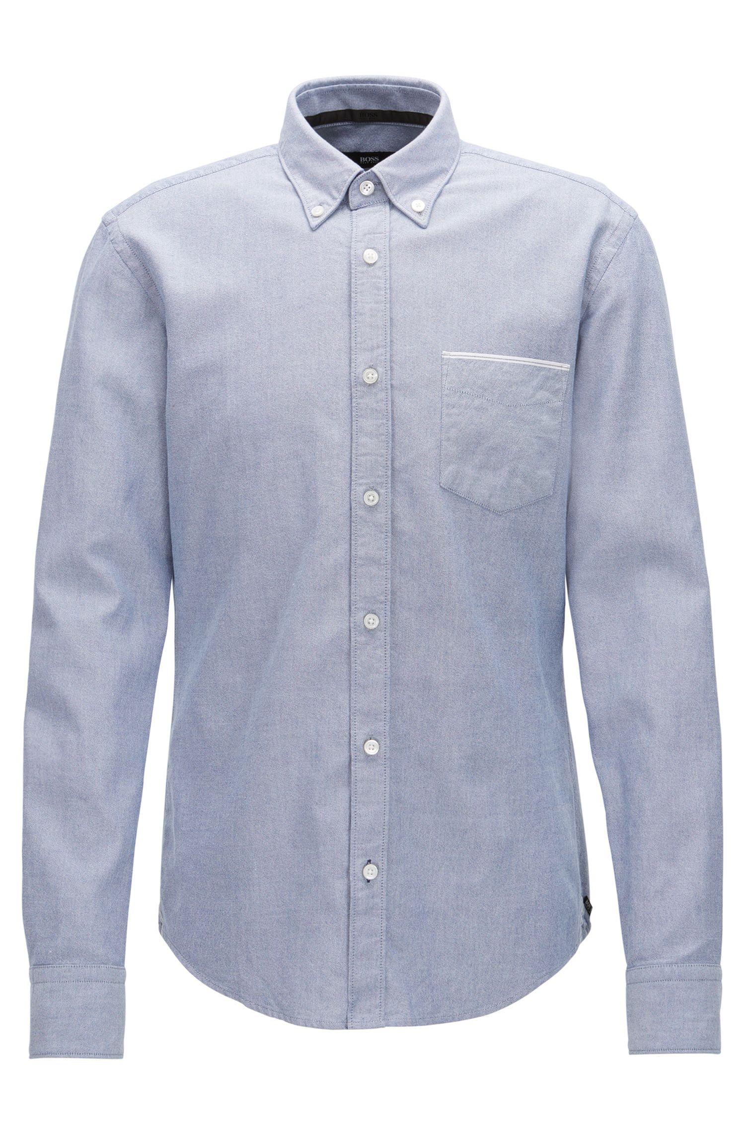 Slim-Fit Oxford-Hemd aus Baumwolle mit Selvedge-Details