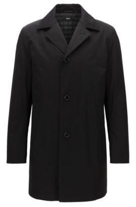 Cappotto con imbottitura leggera in tessuto di medio peso, Nero