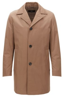 Manteau en tissu de poids moyen, légèrement matelassé, Kaki