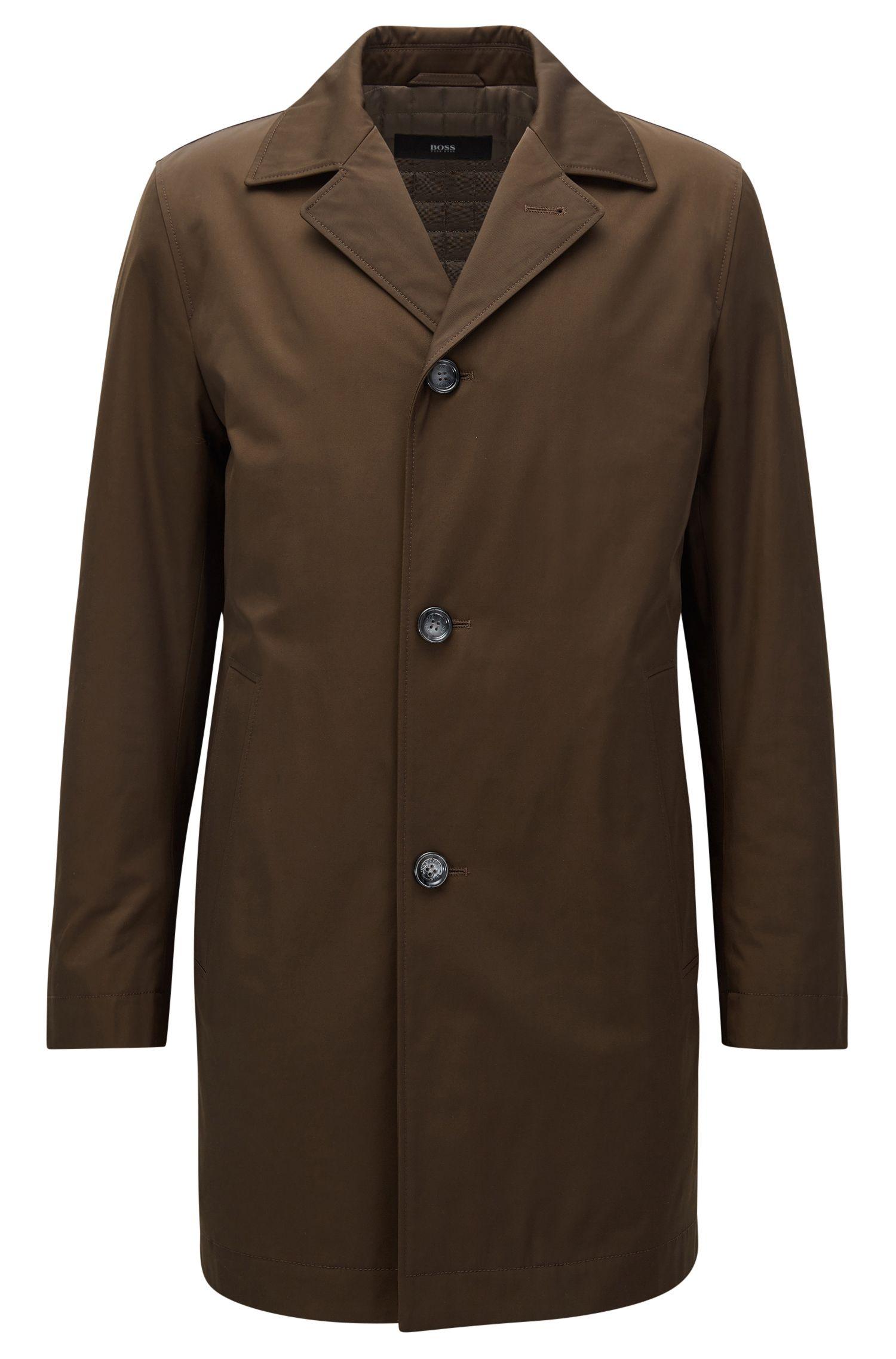 Cappotto con imbottitura leggera in tessuto di medio peso