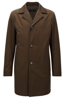Lightly padded coat in mid-weight fabric, Open Green