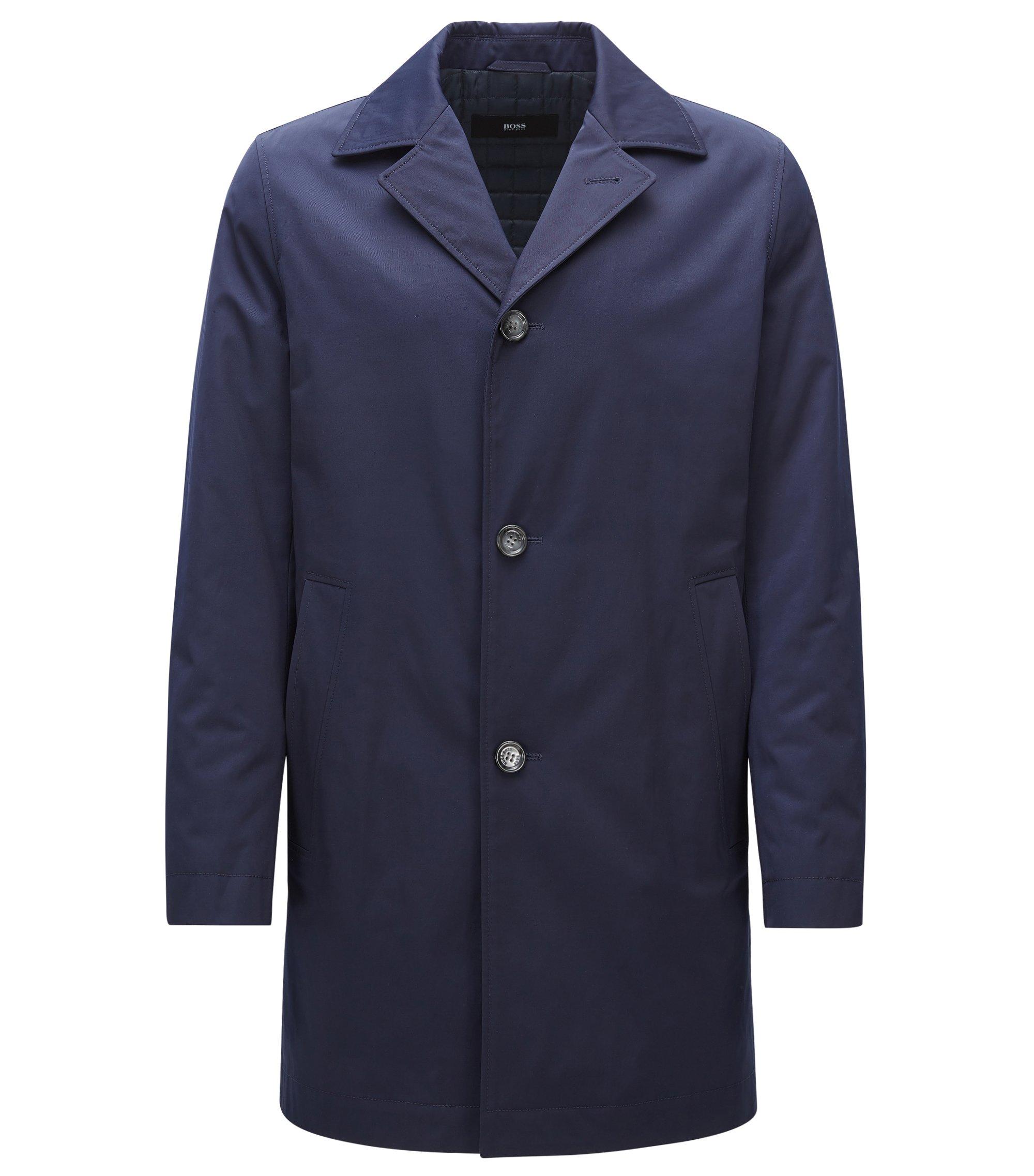 Licht gevulde mantel van middelzwaar materiaal, Donkerblauw