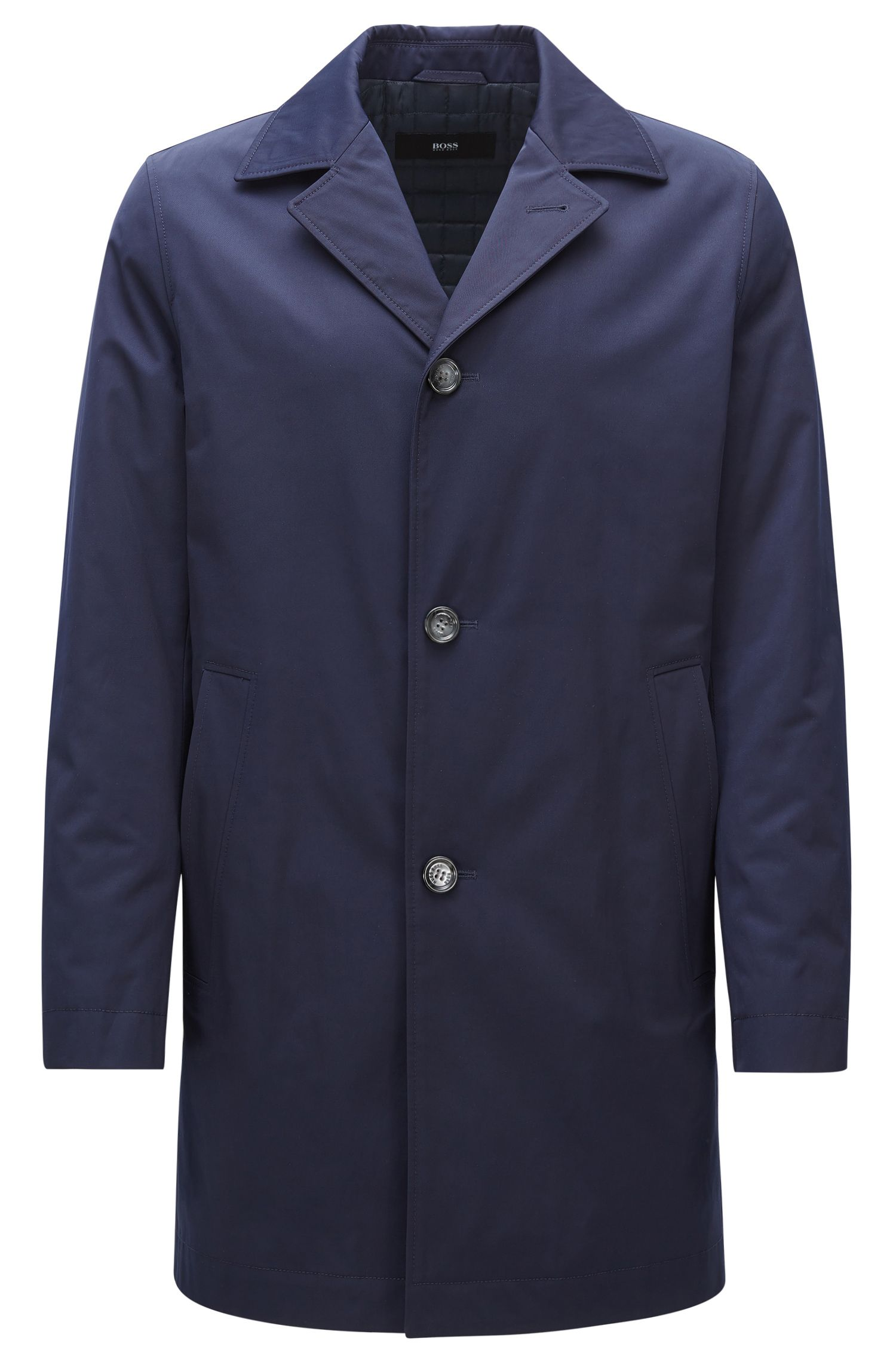 Lightly padded coat in mid-weight fabric